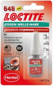 LOCTITE 648 blister 5 ml x12szt